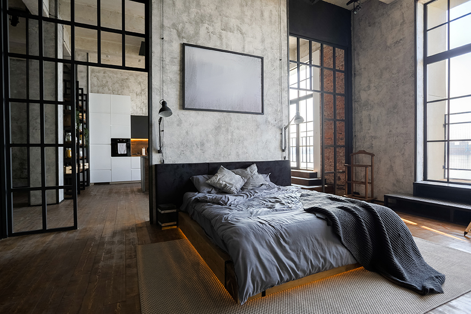 New York loftstyle bedroom